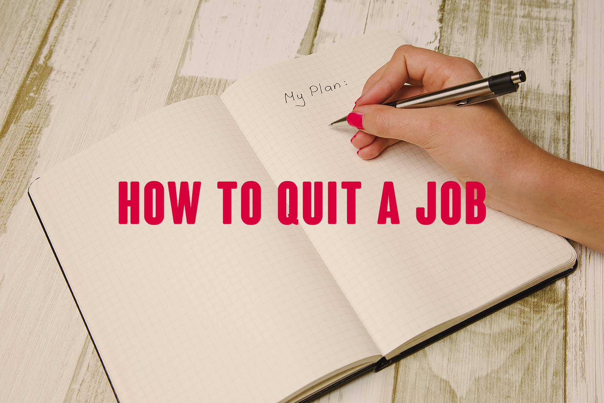 mba how to quit a job blog post
